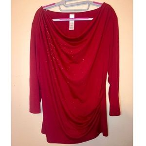Tops - Red Maternity Shirt